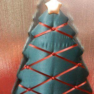 VTG Christmas tree french ribbon memory board G&R